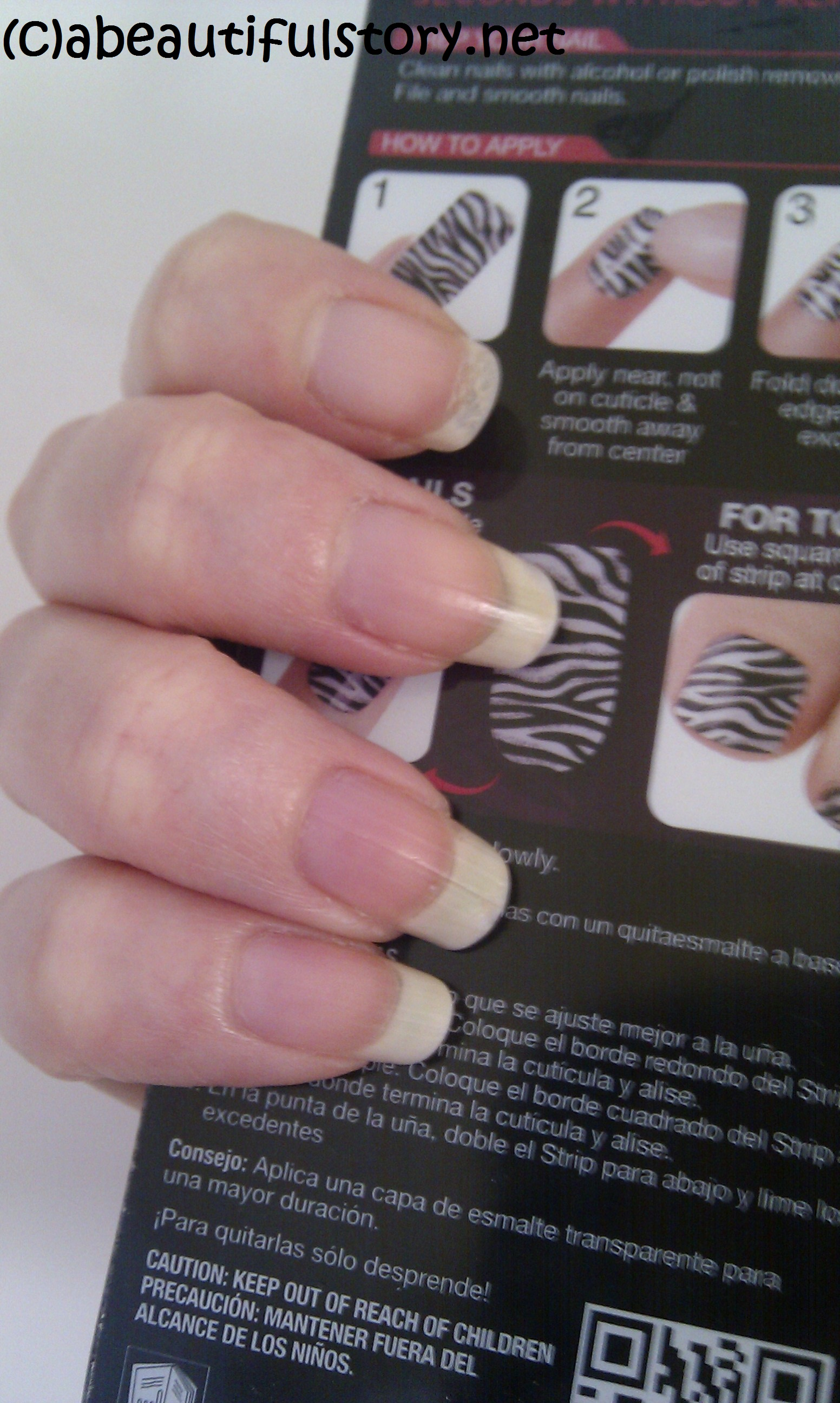Hmm… Not so keen on nail foils/stickers! Kiss Nail Dress Review   a ...